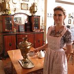 Tea from the Samovar, served by our loveley waitress