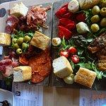 Meat sharing platter and Vegetarian sharing platter