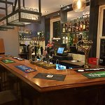 The bar at The Railway