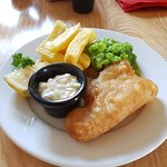 A small portion of fish and chips. Several of our main dishes can be served as a small portion.