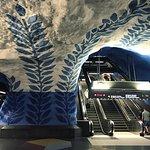 a Stockholm subway art