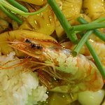 Fried Pineapple with Shrimp