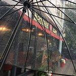 Спрятались от дождя в Батони!