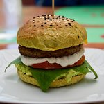 burger type sandwich.. with eggplant, yum