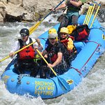 This is the picture as we entered Zoom Flume in Browns canyon on Day 2 of our rafting trip.