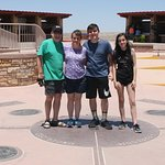 Our family standing on the four states
