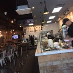 So many delicious and healthy food options. The atmosphere is pleasant and great service.