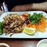 Chicken and lamb mixed kebab