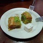 Baklava for dessert (complimentary)