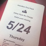 Parking Pass for the Day...