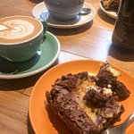 Brownies are so good, especially with a flat white.