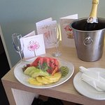 Around lunchtime on our anniversary this arrived for us from the hotel management....