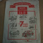Cute shopping bag from Dick's Oldtime 5 & 10 in downtown Branson, MO.