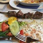 Inedible beef (?) kebab - yuck !