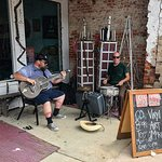 Players doing what they do best in Clarksdale. Playing.