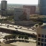 Looking to the west, overlooking the freeway. Perot Museum right there in the middle.