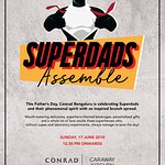 Here's to raising a toast to the strongest man we all know and love, our SuperDads at The Conrad