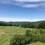 The golf course view