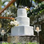 Marble Effect Wedding Tiers