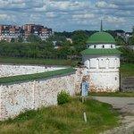 Вид с вала на кремлёвские стены