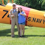 Madeline and her pilot Nelson Eskey