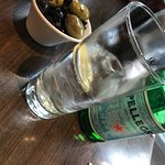 Pellegrino and Olives - a good start for a meal.......