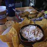 Crab Dip and Pickle Chips