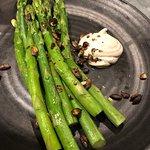 Asparagus, black pepper aioli (£11)