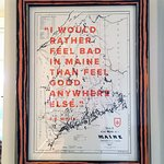 Sold here, framed here, designed and letterpress printed in Portland, ME