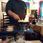 Bananas Foster, flambeed at your table