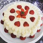 Homemade strawberry sponge cake