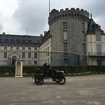 Rambouilet castle during an antique car show