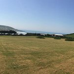 View from the top field / glamping area