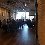 Our main dining room, with refinished, original brick.