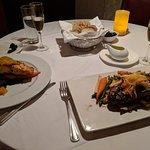 Salmon and steak