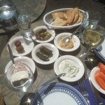 Small selection of our meze platter, add calamari, Greek sausages, pork and grilled halumi