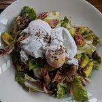 Avocado salad & poached eggs