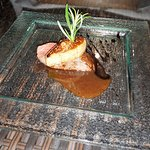 Deer saddle, foie gras, port sauce