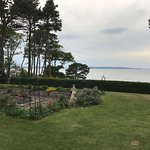 The hotel is just off the beach on the Moray Firth