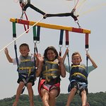 This was the kids favorite part of the vacation. Flying high in the sky with their mom!
