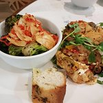 Double stuffed Mediterranean potato and broccoli salad