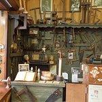Woodworking tools on display