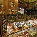 A view of the toys and souvenirs on sale