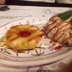 Abacaxi flambado com sorvete