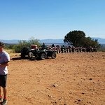 Second stop for a break and breathtaking views. All the ATV's in a line!!