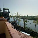 Vista dalla camera  sul fiume Po