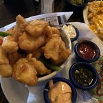 Liffey Chips (fish bites with 4 sauces)