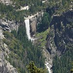A view of Vernal falls from Glacier point