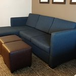 Pull out couch and ottoman/coffee table
