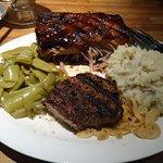 Half rack Ribs - Steak - Southern Green Beans - Mashed potatoes